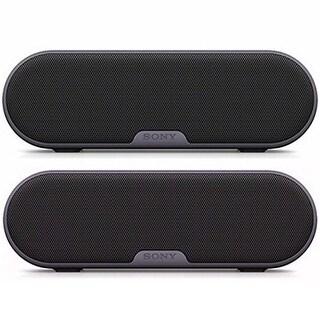 Sony SRSXB2/BLK Portable Wireless Bluetooth Speaker (Black) Dual Pack Bundle