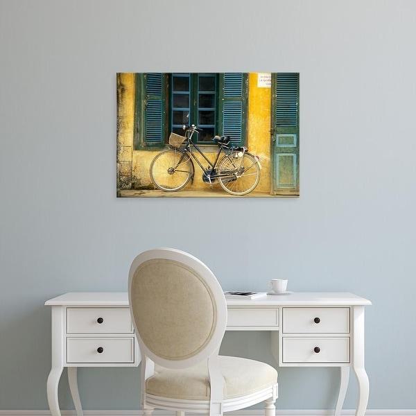 Easy Art Prints Tom Haseltine's 'A Bicycle In Hanoi' Premium Canvas Art