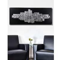 Statements2000 Black & Silver Metal Wall Art Sculpture by Jon Allen - Time Suspended 2