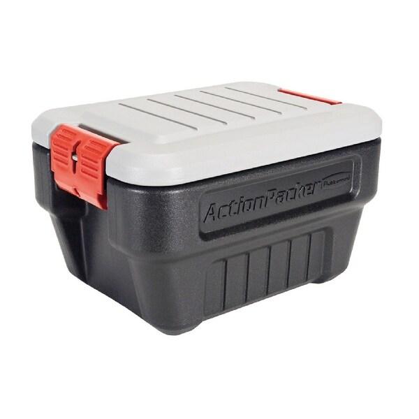 Rubbermaid RMAP080000 ActionPacker Lockable Storage Tote, 8 Gallon, Black