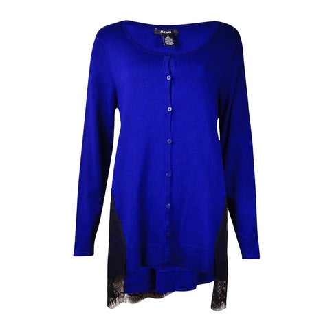 Alfani Women's Lace Trim Cardigan Sweater