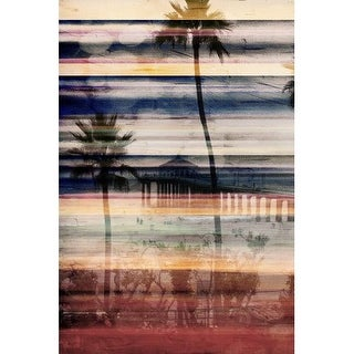 Parvez Taj Palms by the Pier Print on Canvas Art Print on Premium Canvas
