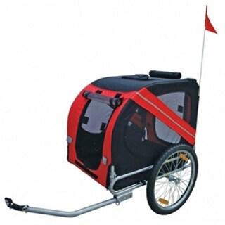 vidaXL Dog Bike Trailer Red