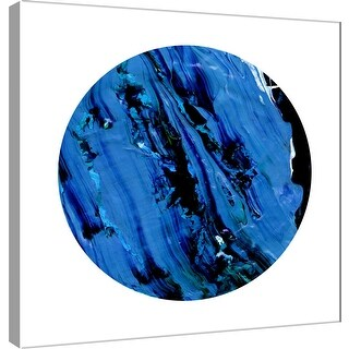 "PTM Images 9-101115  PTM Canvas Collection 12"" x 12"" - ""Painterly Circle on White I"" Giclee Abstract Art Print on Canvas"