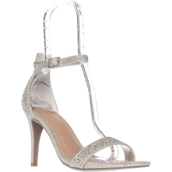 MG35 Blaire Ankle Strap Dress Sandals, Silver