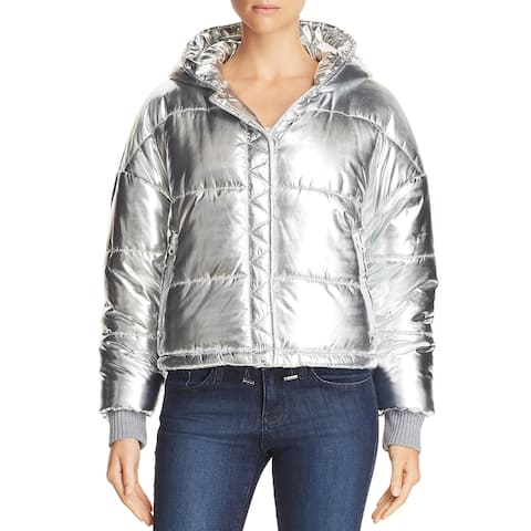 Splendid Womens Dakota Puffer Coat Winter Quilted