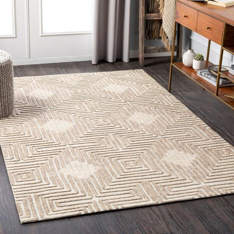 Sentimente Modern Wool Handmade Area Rug