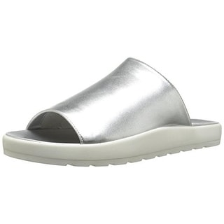 Steve Madden Womens Favor Metallic Casual Slide Sandals - 9 medium (b,m)