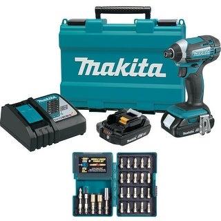Makita 18V Compact Lithium-Ion Cordless Impact Driver Kit Set
