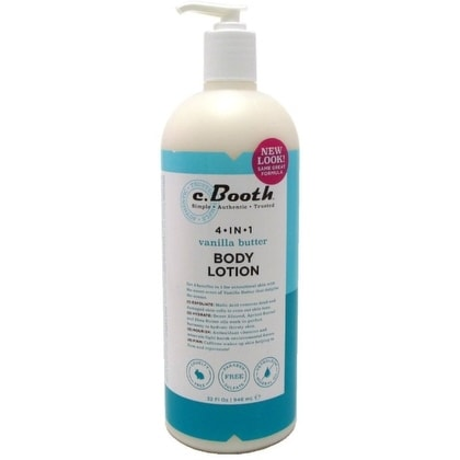 c. Booth 4-in1 Multi-Action Body Lotion, Vanilla Butter 32 oz