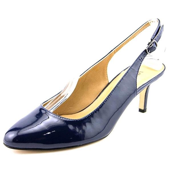 Vaneli Luella N/S Pointed Toe Patent Leather Slingback Heel
