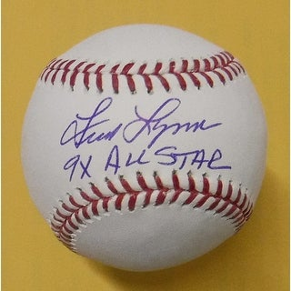 Fred Lynn Autographed Boston Red Sox OML Baseball 9x All Star JSA