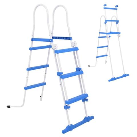 vidaXL Above-Ground Pool Safety Ladder with 3 Steps 42.1""