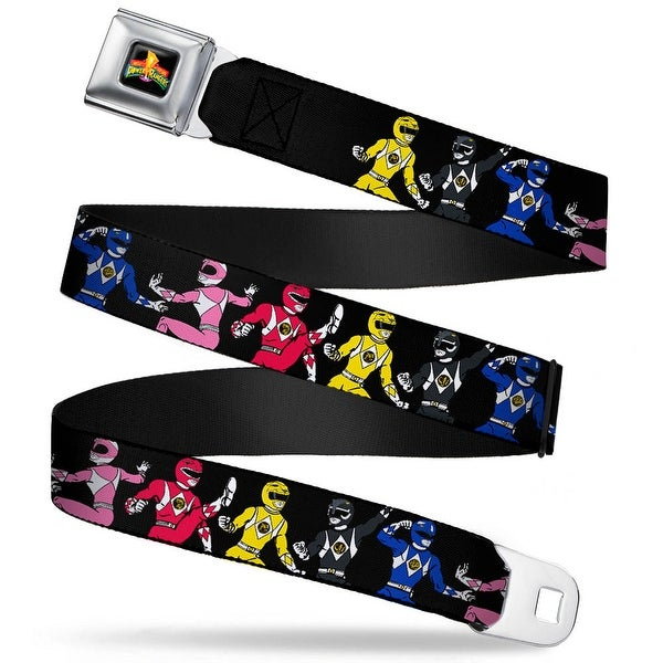 Power Rangers Logo Full Color Power Rangers Posing Webbing Seatbelt Belt Seatbelt Belt
