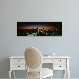 Easy Art Prints Panoramic Images's 'High Angle View Of A City Lit Up At Dawn, St. Louis, Missouri, USA' Canvas Art