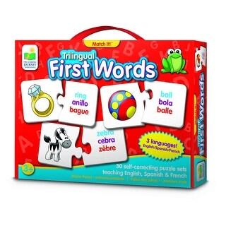 Trilingual Match It First Words Card Game (30 Piece) - multi