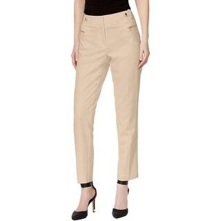 Calvin Klein Womens Dress Pants Straight Fit Flat Front