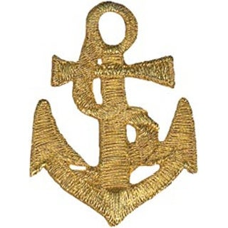 Gold Anchor - Wrights Iron-On Applique