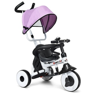 Gymax 4-In-1 Kids Baby Stroller Tricycle Detachable Learning Toy Bike