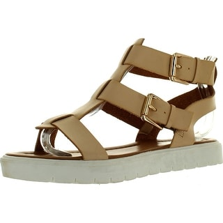Via Pinky Fallon-06 Women's Open Toe Strap Flat Gladiator Sandals