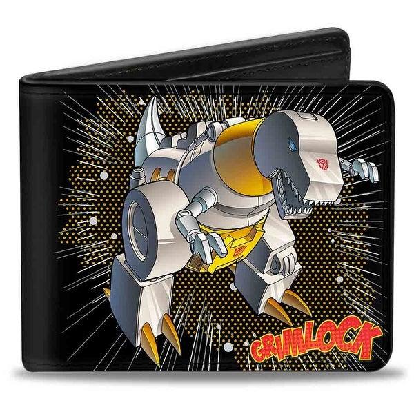 Grimlock Tyrannosaurus Rex Halftone + Transformers Logo Bi Fold Wallet - One Size Fits most
