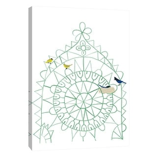 """PTM Images 9-105489  PTM Canvas Collection 10"""" x 8"""" - """"Birds in Lace"""" Giclee Birds Art Print on Canvas"""