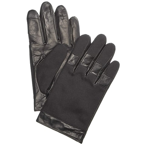 Calvin Klein Men's Black Size Large L Touchscreen Pieced Knuckle Gloves