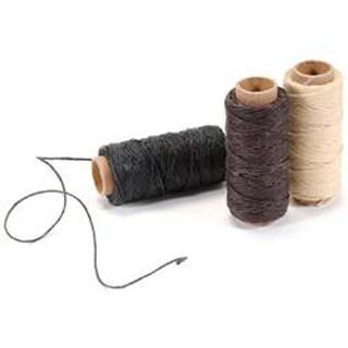 Natural; Brown; Black; 20Yds Each - Waxed Linen 5 Ply Thread 3/Pkg
