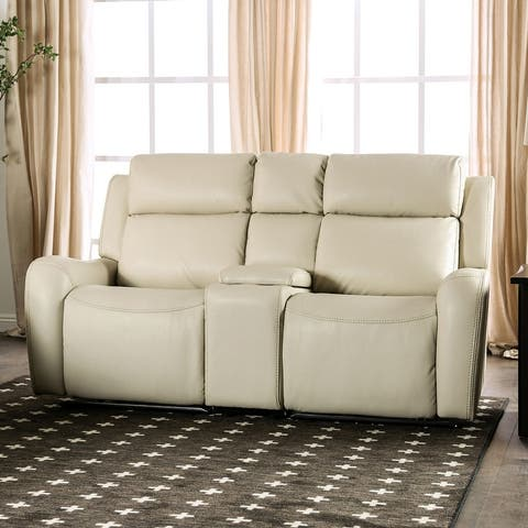 Furniture of America Norla Transitional Power Recliner Loveseat