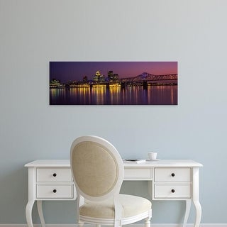 Easy Art Prints Panoramic Image 'George Rogers Clark Memorial Bridge, Ohio River, Louisville, Kentucky' Canvas Art