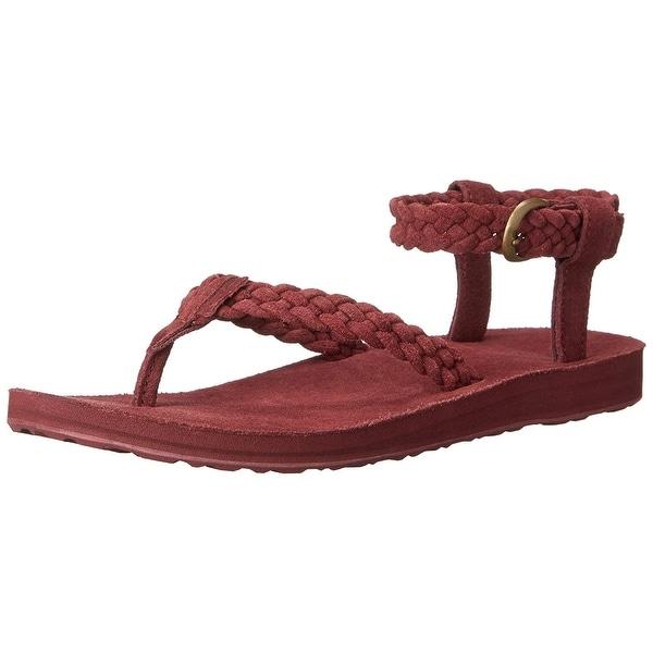 3c268c2a0c04 Shop Teva Women s Original Suede Braided Ankle-Strap Sandal - 10 ...