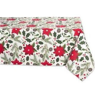 Design Imports Woodland Christmas Tablecloth 52x52 inch