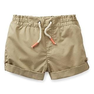Carter's Little Girls' Khaki Shorts-6 Youth