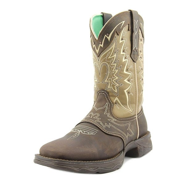 Durango Lady Rebel Women Round Toe Leather Brown Western Boot