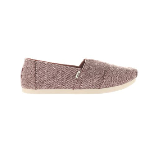 TOMS Womens Alpargata Red Casual Flats Size 7.5