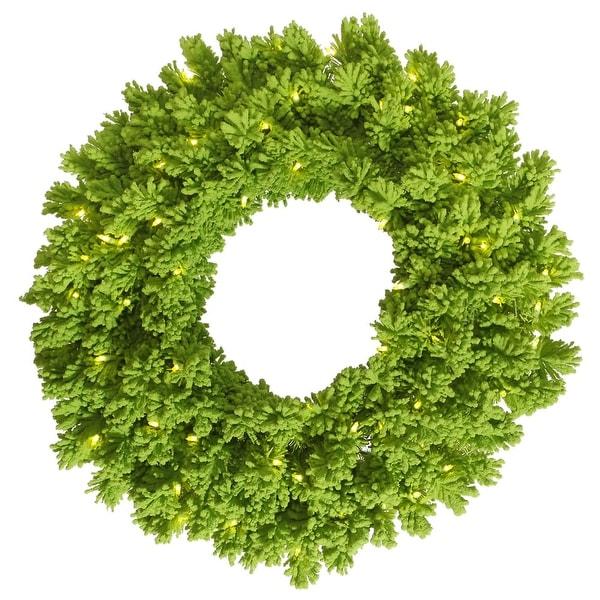 "30"" Flocked Lime Wreath DuraL LED100Lime"