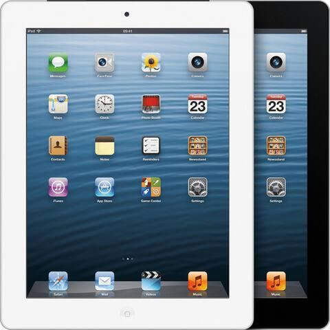 """Apple Ipad 4 with Wi-Fi 9.7"""" Retina Display - 128GB - Black - White (Refurbished)"""