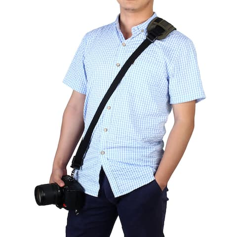 SHETU Authorized Universal Digital SLR Camera Belt Strap Army Green for DSLR