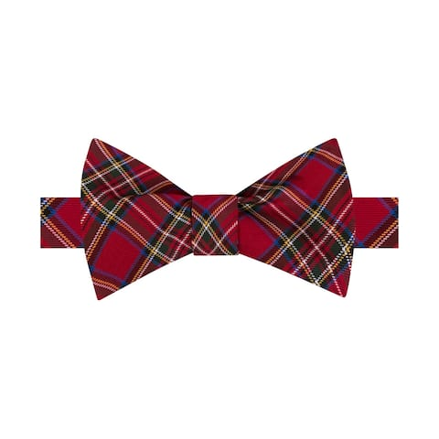 Tommy Hilfiger Mens Tartan Self-Tied Bow Tie - One Size