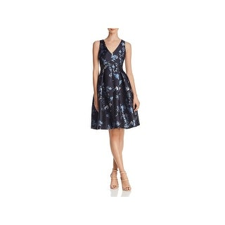 Eliza J Womens Cocktail Dress Sleeveless Metallic