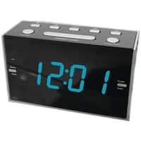 "Sylvania Scr1053 1.2"" Jumbo Digit Dual Alarm Clock Radio With Blue Led"
