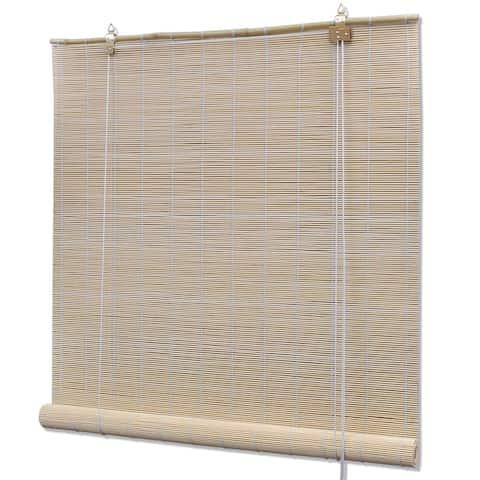 "vidaXL Natural Bamboo Roller Blinds 47.2"" x 86.6"""