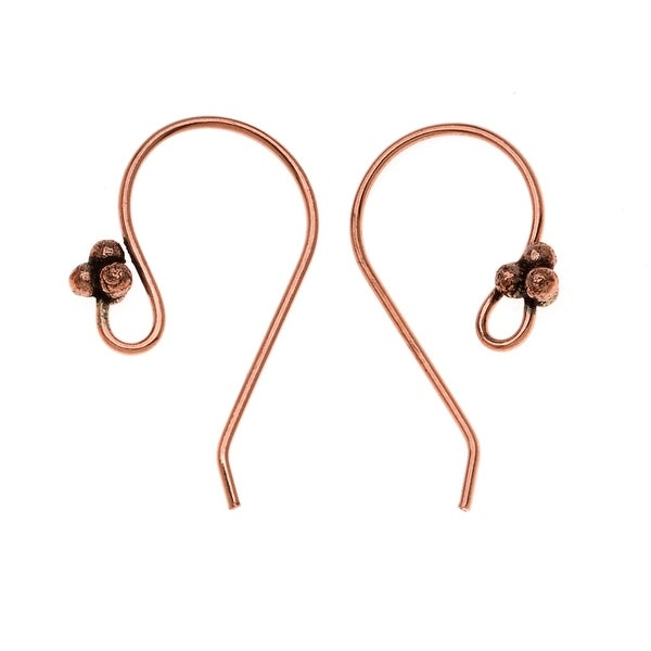 Bali Copper Wide Graceful 4 Ball Earring Hooks (20)