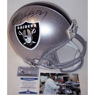 Bo Jackson Autographed Hand Los Angeles Raiders Authentic Helmet BAS Beckett
