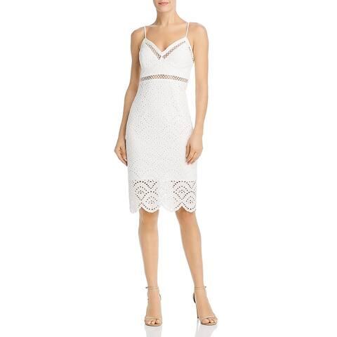 Bardot Womens Sofia Sheath Dress Cotton Embroidered