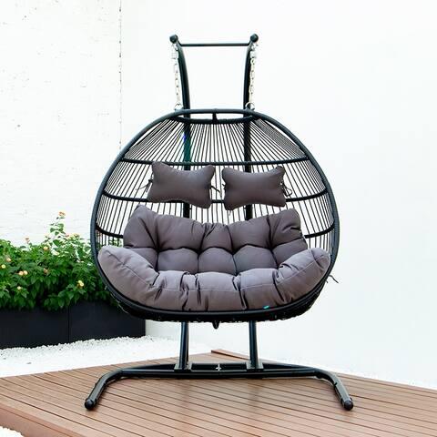 Moda BMM-9766D folding double swing chair w/cushion - 51*27*48