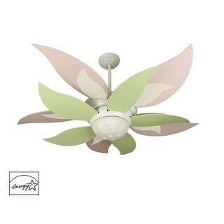 "Craftmade K10367 Bloom 52"" 10 Blade Energy Star Indoor Ceiling Fan - Blades, Remote and Light Kit Included"