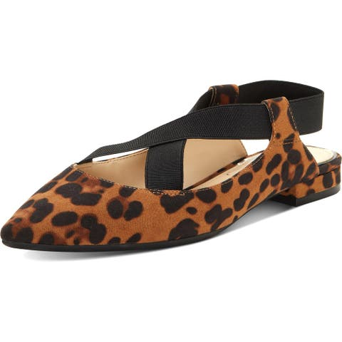 Jessica Simpson Women's Lurina Faux Suede Criss-Cross Strap Pointed Toe Flats