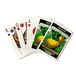 Squash (summer) - Vintage Seed Packet (Poker Playing Cards Deck)