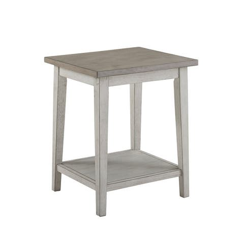 Furniture of America Lanningham Rustic Open-shelf Side Table